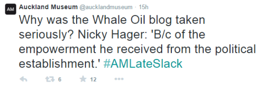 Auckland Museum twitter discussion