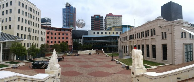 Wellington's civic square